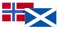 Norway and Scotland flags